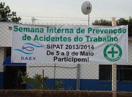 SIPAT 2014 do DAEV – Departamento de Água e Esgoto de Valinhos
